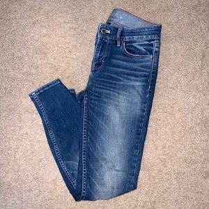 WHBM High Rise Skinny Jeans 0 Petite